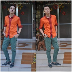 Leo Miguel Rivera - Riot Button Down, Sm Dept. Store Pants - First Day of the Year
