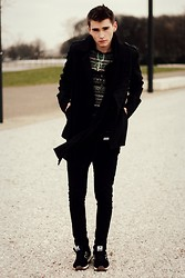 Romek Gelard Gello - New Balance, Firmoo Glasses, Pull & Bear Coat, H&M Sweater - Impossible