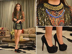 Laureen Uy - Lauren And Brie Top, Mango Vest, Fantasia Clothing Skrt, Primadonna Shoes - All in One (BMS)