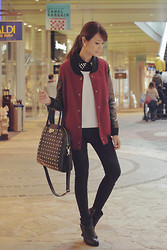 Tricia Gosingtian - Spray Jacket, Egoist Bag, Cecil Mcbee Top And Sweater, Topshop Pants, Dkny Boots - 123012
