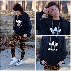 Hope Bidinger - Members Only Jacket, Adidas Tee Shirt, Gojane Pants, Supra Kicks - Baroque