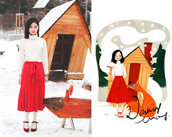 Nancy Zhang - Chanel Skirt, Ms Min Blouse, Heels - Lady and Fox.