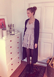 Carolin Larsson - Size & Needle Long Cardigan, Tina Wodstrup Dress - Here's one for the diamonds in the dark.