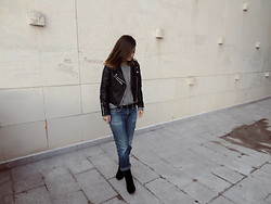 Veronika B - Jacket, Shoes, H&M Jeans, Second Hand Sweater - I don't blame you