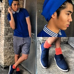 Dominic Cuerpo - Bench Polo Shirt, Penshoppe Bonnet, Oxygen Oxford Shoes, Oxygen Socks - Bluer than blue.