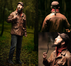 Boreas Ʊ - B&B Industries Brown Leather Jacket, Brown Guerilla Cap, Handmade Wool Scarf, My New Pipe! - An Unexpected Journey in the Dark Woods