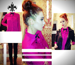 Caroline Mc Menamin - Topshop Specialist Leather Jacket, International Shirt, Topshop Earcuff - Prep to Rock