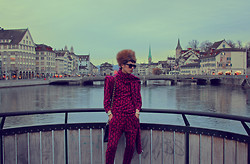Santiago Artemis - A.Y. Not Dead Blouse, A.Y. Not Dead Pants, A.Y. Not Dead Scarf, Maxmara Hat, Chanel Bag - SWAG ON ZURICH