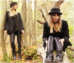 Blanche Clement - Urban Outfitters Hat, American Apparel Leggings, Dr. Martens Boots - Life is a forest