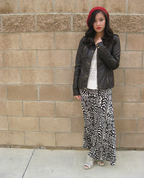 Wing Y. - Max Rave Jacket, Best Cody Maxi Skirt, Forever 21 Crochet Sweater, Calvin Klein Heals - A NEW BEGINNING