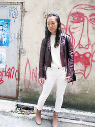 Rhoda Wong - Pull & Bear Sweater, Uniqlo White Jeans - Our Faces