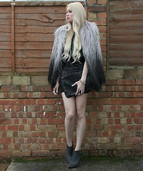 Giselle C - Topshop Coat, Armani Exchange Dress, Topshop Boots - The party's over back to real life