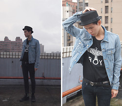 Alex FuFu - New York Hat, Boy London T Shirt, H&M Jacket - Who's in love with the boy?