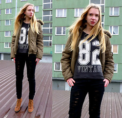 Ania Zarzycka - Cubus Top, Tally Weijl Pants, Pull & Bear Boots, Orsay Jacket - Believe in yourself