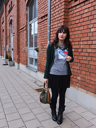 Vanessa P. - Zara Skirt, Prada Bag, Vince Camuto Biker Boots - Another Brick In The Wall