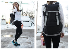 Maria L - Puma Backpack, Nike Running Shoes - NEON SNEAKERS
