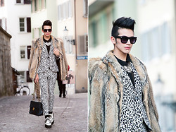 Santiago Artemis - H&M Suit, Vintage Fur Coat, Demonia Creepers, Chanel Bag, American Apparel Glasses, Tiffany & Co. Necklace, Artemis Shirt - COLD WINTER IN ZURICH
