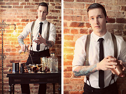 Bobby Hicks - Brooks Brothers Suspenders, H&M Shirt - Barkeep