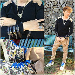 Gabby Bo - Li's Closet Hex Nut Necklace, Ubiq Batman Comic Sneakers - COMIC X HAMMER