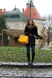 Luba { Well Living Blog } - Giorgio Armani Quilted Jacket, Tommy Hilfiger Bag, Purificacion Garcia Scarf - Postcard from Zagreb
