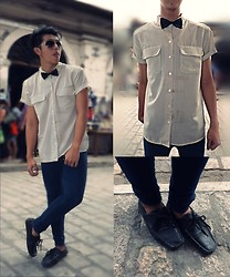 Wilbourne Bautizado - Forever 21 Shades, Comme Des Garçons Bow Tie, Chaus Polo, Stone Haven Boat Shoes - Vigan Spree