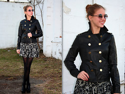Ally Marie - Marc By Jacobs Skirt, Joe Fresh Leather Jacket - Commander