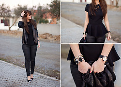 Samm ASCF - Asos Sequin Jacket, New Look Peplum Top, Bershka Trousers, Cuple Pumps, Michael Kors Watch - New years eve sunset