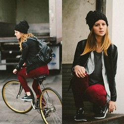 Michelle Madsen - Lf Stores Beanie, Wesc Jacket, Urban Outfitters Jean Shirt, Carmar Pants, Nike Free Runs - NIKE FREES