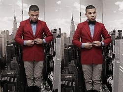 Ishmail Soto - Talbots Red Blazer, Target Button Up, Gap Grey Cargos, H&M Bowtie - Wherever You Are.