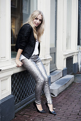 Yara Michels - Oasis, Dune, River Island - Bomber and sequins