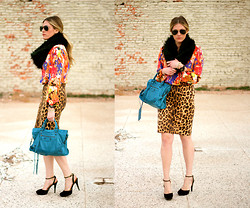 Devon D - Zara Skirt, Balenciaga Bag - Pattern Mixing 101