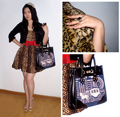 Jessie Yin - Hairpin, Ring, Zara Leopard Dress, A Za Bag - Wherever I go