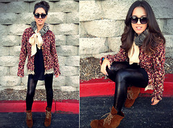Gina Y - Anthropologie Sweater, Steven Shoes, American Apparel Leggings, Armani Exchange Shirt - POP that BUBBLY!