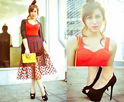 Neeresh Das - Love Red Bustier, Das Das37 Black - Perfect Sunset