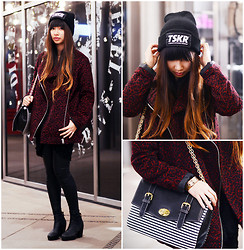 Van Anh L. - Tskr Beanie, Topshop Coat, Tribecashoes Boots - Beanie Love