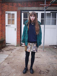 Alice B - Northface Raincoat, Indonesia Vintage Dungarees, Dr. Martens Vintage Doc - Wish I Stayed Asleep Today