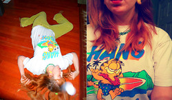 Ashley W - Thrift Store Garfield Tee - HANG LOOSE