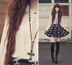 Ashlei Louise . - Jovonna London Top, Romwe Boy Skirt, Sammy Dress Spiked Heels, Abhair Wig!! - FATAL  FAMILIAL
