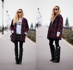 Adenorah M - Vintage Coat, Choies Skirt, Choies Boots - Adenorah - crazy boots