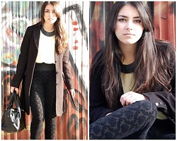 Laura Montilla - H&M Blouse, Mango Necklace, H&M Coat, H&M Bag, Zara Pants - Shot 2