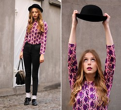 Marie Jensen - Second Hand Blouse, Wonhundred Jeans, H&M Hat - Gloop