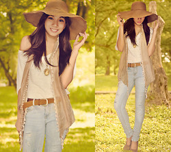 Maricar De Dios - Forever 21 Jeans, Prp Floppy Hat - For A Change