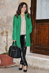 Miriam V -  - Green Coat in Winter