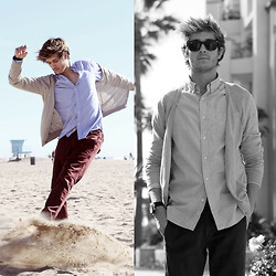Adam Gallagher - Similar Here  > Shirt, Similar Here  > Cardigan, Similar Here  > Jeans - Andrew Jefferis Photography - part 2 (giveaway)