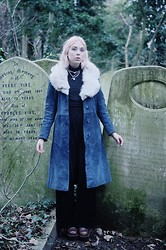 Lovisa R - Secondhand Coat, Secondhand Pants, Borrowed Top, Skouno Shoes, Born This Way Pink - Abney park