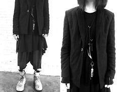 Luke LU - Manmade Natural Suits, Manmade Natural Cut&Sew, Manmade Natural Pants, Rick Owens Boots - 13122