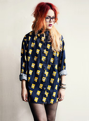 Lua P - Sheinside Shirt - Bart Simpson