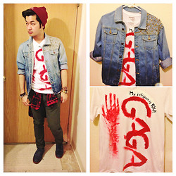 Shawn C. - Diy Ombre Denim Jacket, Diy Lady Gaga - For the love of Gaga! (D.I.Y)