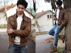 Rayan Benhammadi - Zara Jacket, All Saints Sweater, Ice Swatch Watch, Pull & Bear Pant, Tom Tailor Shoes - We are branches of the same tree .