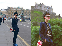 Santiago Artemis - Zara Suit, American Apparel Bag, Moschino Hat, American Apparel Shoes, Complot Shirt, Vintage Glasses - ARTEMIS IN EDINBURGH